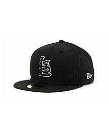 St. Louis Cardinals Black and White Fashion 59FIFTY Cap