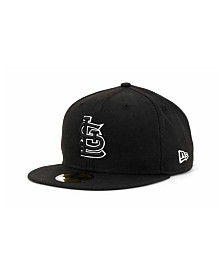 New Era St. Louis Cardinals Black and White Fashion 59FIFTY Cap