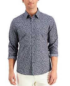 Men's Linear Leaf Print Shirt