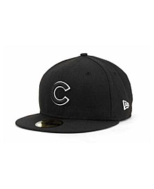 Chicago Cubs Black and White Fashion 59FIFTY Cap