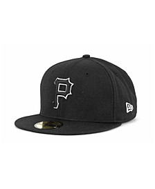 Pittsburgh Pirates Black and White Fashion 59FIFTY Cap
