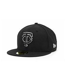 Minnesota Twins Black and White Fashion 59FIFTY Cap