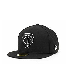 New Era Minnesota Twins Black and White Fashion 59FIFTY Cap