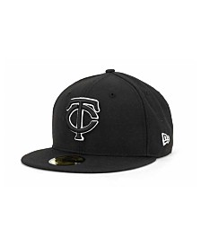 New Era Minnesota Twins Black and White Fashion 59FIFTY Cap
