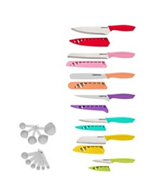 25-Pc. Kitchen Cutlery Set with Measuring Tools