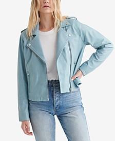 Women's Classic Leather Moto Jacket