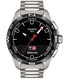 Men's Swiss T-Touch Connect Solar Titanium Bracelet Smart Watch 48mm