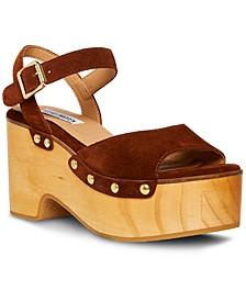 Women's Mindful Wooden Platform Sandals