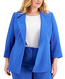 Plus Size Notch-Collar Blazer