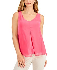 JM Collection Chiffon-Overlay Tank Top, Created for Macy's