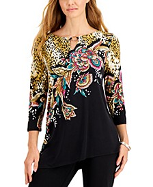 Printed Asymmetrical Top, Created for Macy's