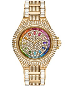 Women's Limited Edition Camille Gold-Tone Stainless Steel Pave Bracelet Watch 43mm