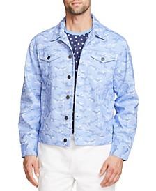 Men's Slim Fit Cotton Stretch Trucker Jacket