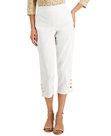 Snap Hem Capri Pants, Created for Macy's