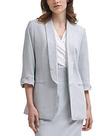 Petite Open-Front 3/4-Sleeve Blazer
