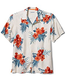 Men's Hilo Hibiscus Short-Sleeve Silk Shirt