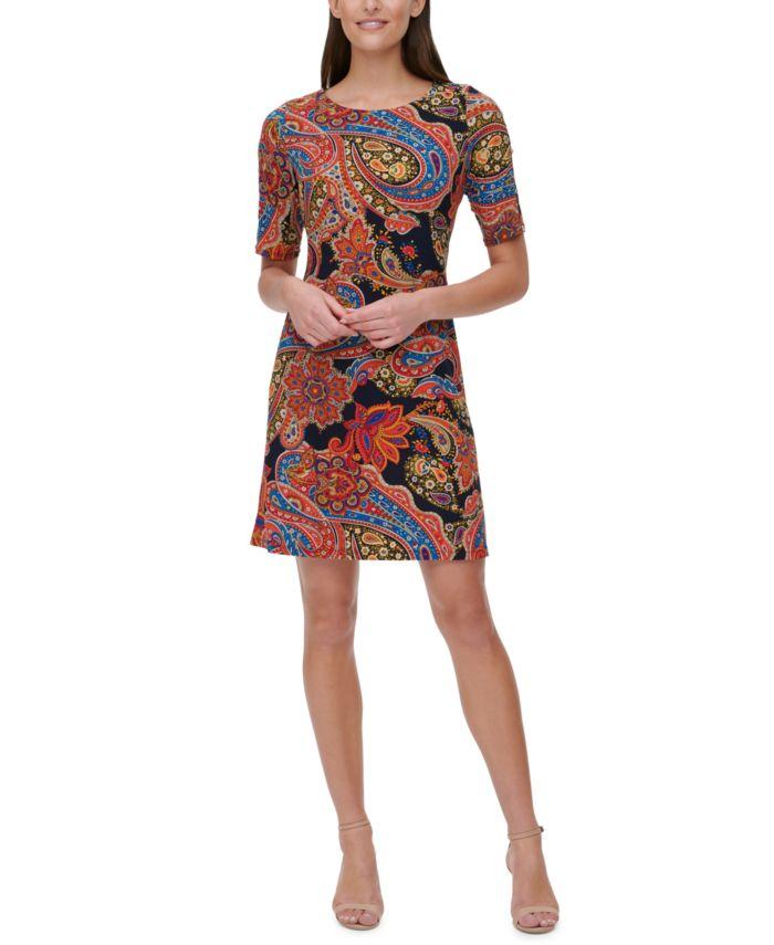 Tommy Hilfiger Paisley Jersey Dress & Reviews - Dresses - Women - Macy's