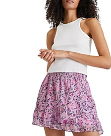 Tiered Ruffled Floral Skirt