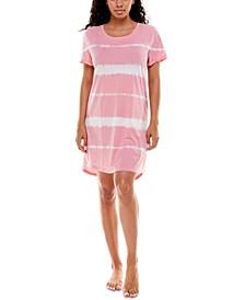 High-Low Hem Jersey Sleep Shirt Nightgown