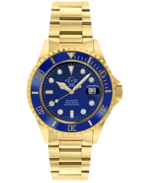 Men's Liguria Swiss Automatic Ion Plating Gold-Tone Stainless Steel Bracelet Watch 42mm
