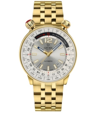 Men's Wallabout Swiss Automatic Ion Plating Gold-Tone Stainless Steel Bracelet Watch 44mm