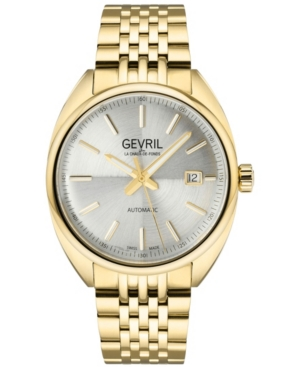 Men's Five Points Swiss Automatic Ion Plating Gold-Tone Stainless Steel Bracelet Watch 47.5mm