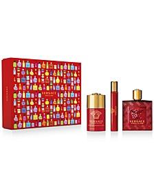 Men's 3-Pc. Eros Flame Eau de Parfum Gift Set