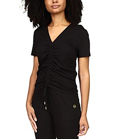 Solid Drawstring T-Shirt, Regular & Petite