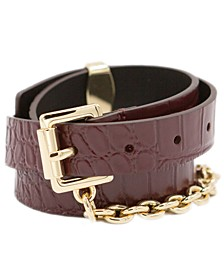 Swag Chain Leather Belt