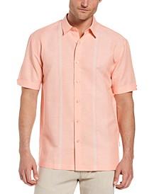 Men's Textured Yarn-Dyed Stripe Panel Shirt