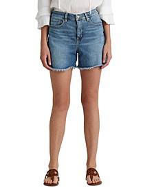 Petite High Rise Denim Shorts