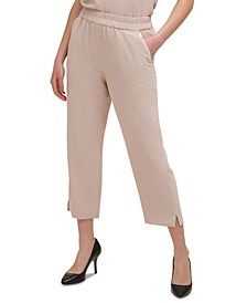 Crinkled Pull-On Pants