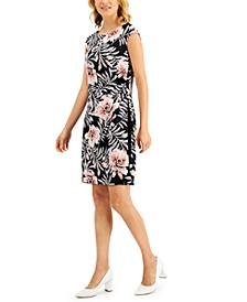 Petite Cap-Sleeve Sheath Dress