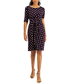 Petite Side-Tab Ruched Dress