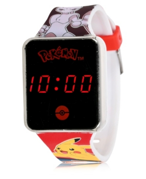 Pokemon Kid's Touch Screen Red Silicone Strap Led Watch