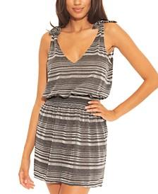 Shimmer Tie-Shoulder Dress Cover-Up