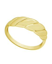 Graduated Twist Ring in Gold Plate