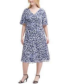 Plus Size Printed Dress