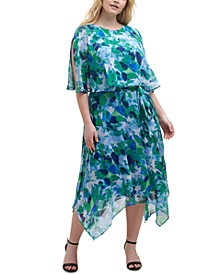 Plus Size Printed Popover Dress