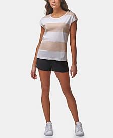 Women's Dolman Short Sleeve Rugby Stripe Tee