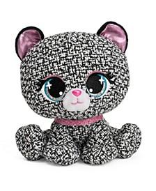 "GUND P.Lushes Designer Fashion Pets Khloe O'Bearci Bear Premium Stuffed Animal Stylish Soft Plush Teddy Bear with Glitter Sparkle, For Ages 3 and Up, Black and White, 6"""