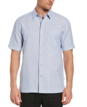 Men's Textured Two-Tone Pintucked Shirt