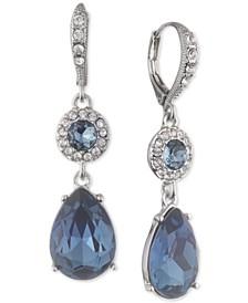 Crystal Halo Double Drop Earrings