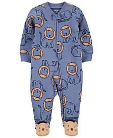 Baby Boys Lion 2-Way Zip Cotton Sleep Play