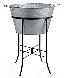 Artland Masonware Galvanized Tin Party Tub with Stand