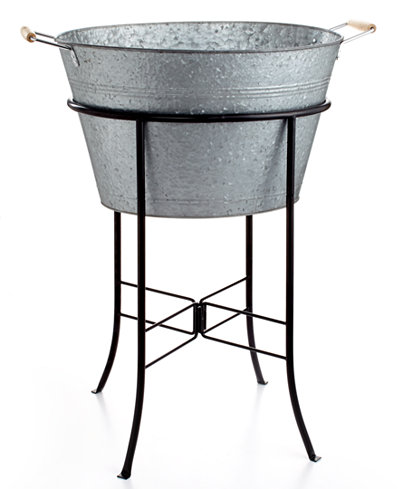 Artland Oasis Galvanized Tin Party Tub with Stand