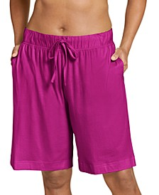 Plus Size Everyday Essentials Cotton Bermuda Sleep Shorts