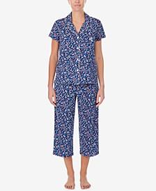 Floral-Print Capri Pants Pajama Set