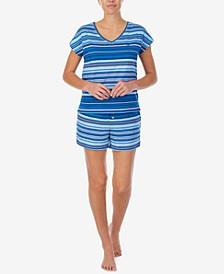 Striped T-Shirt & Shorts Pajama Set