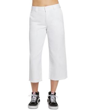 Juniors' Frayed-Hem Cropped Pants